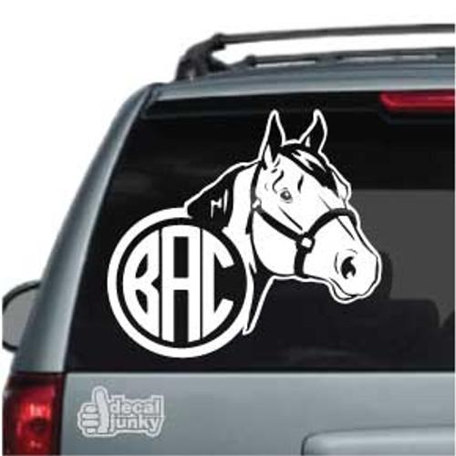 Quarter Horse Monogram Car Decal