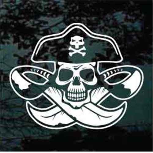 Pirate Head Skull Swords Crossed
