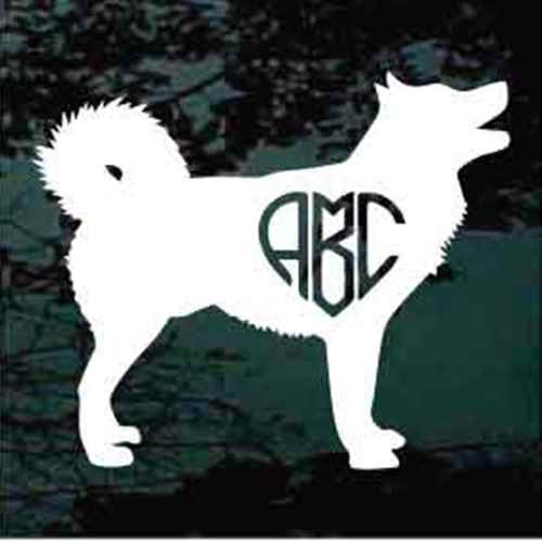 Alaskan Malamute Monogram Window Decals
