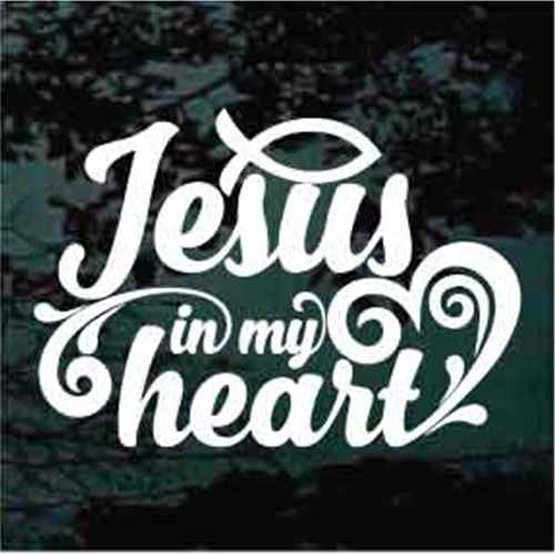 Christian Fish Jesus In My Heart Decals