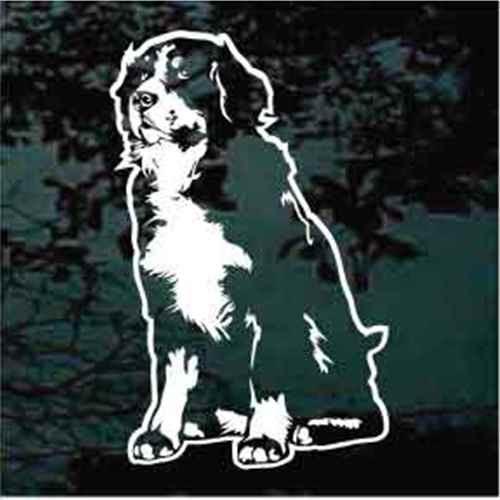 Bernese Mountain Dog Sitting Window Decal