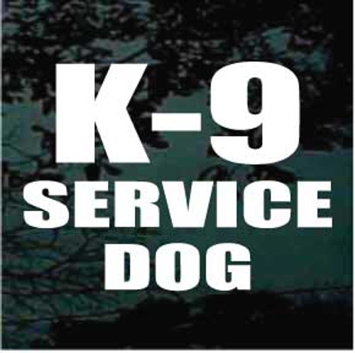 K-9 Service Dog Window Decal