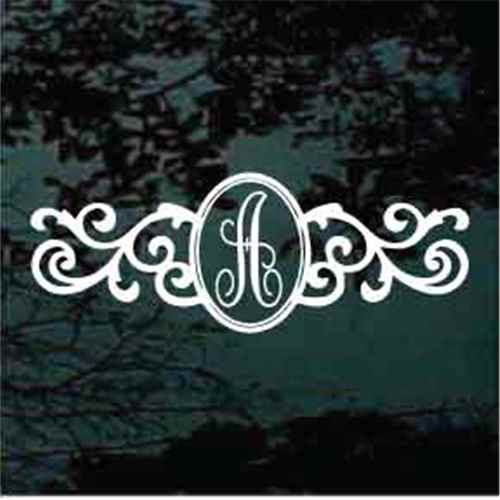 Ornamental Oval Script Monogram