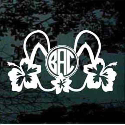 Flip Flops Hibiscus Monogram