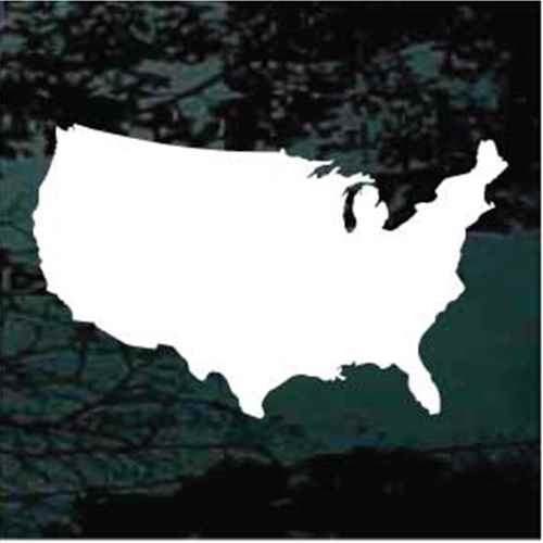 United States Map Window Decals
