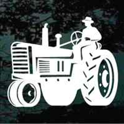 Farmer On Vintage Tractor