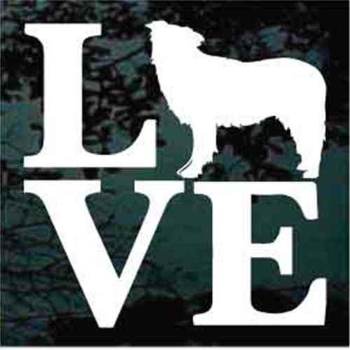 Border Collie Love Window Decal