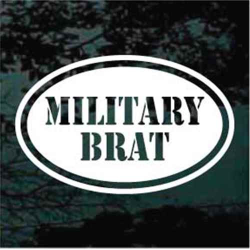 Military Brat Oval Window Decals