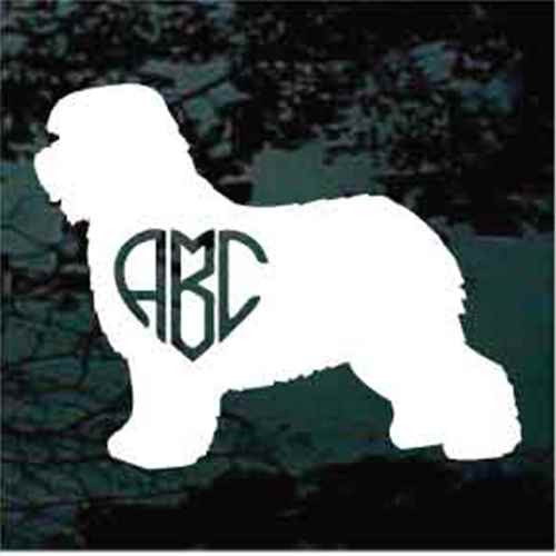 Old English Sheepdog Monogram