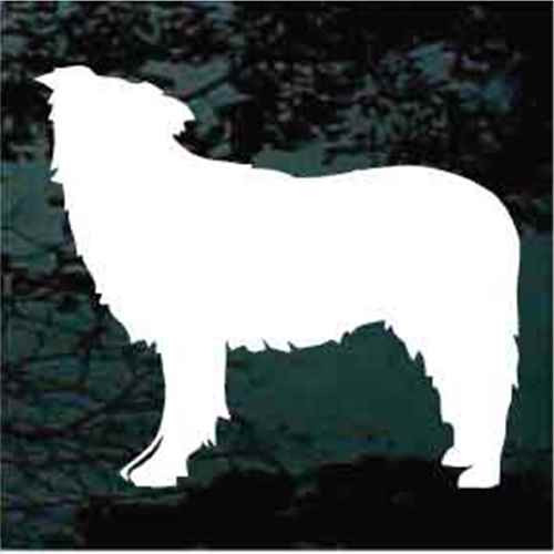 Border Collie Silhouette Window Decal