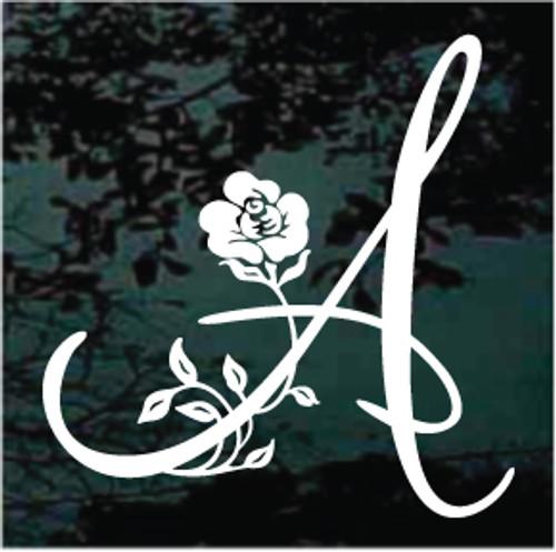 Floral Monogram Single Letter