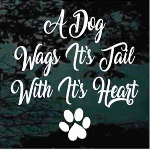 A Dog Wags Its Tail With Its Heart Decals