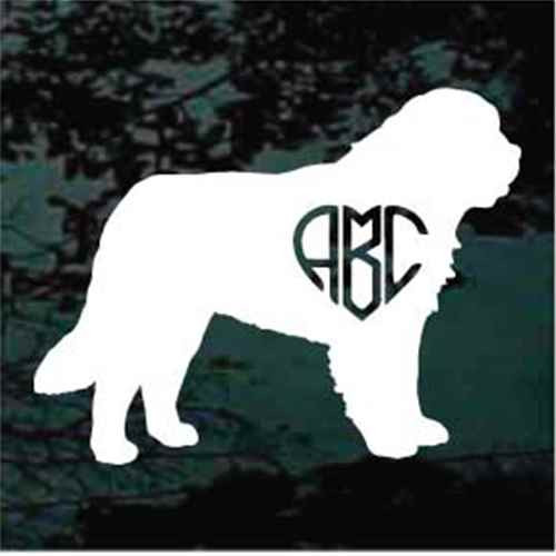 St. Bernard Monogram Window Decals