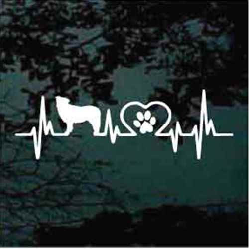 Border Collie Heartbeat Window Decal