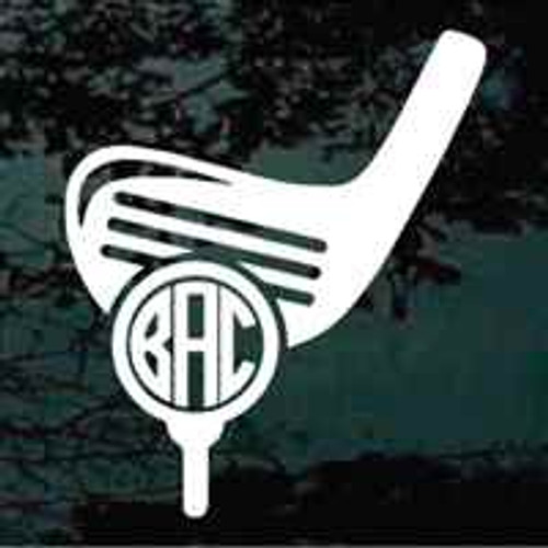 Golf Club Monogram Decals