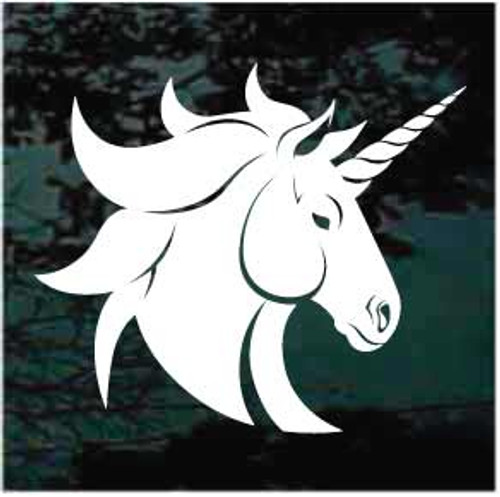 Pretty Unicorn Head Decal
