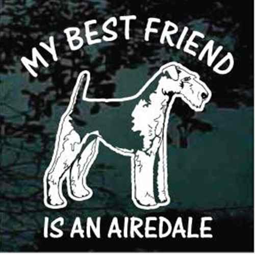 Airedale Terrier Standing Best Friend Decals