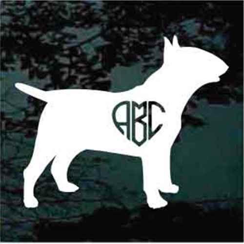 Bull Terrier Heart Monogram