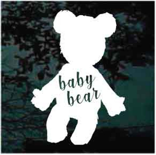 Baby Bear Teddy Bear Window Decal