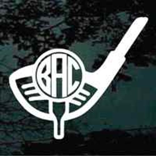 Golf Club & Tee Monogram Decals