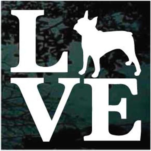 Boston Terrier Love Window Decal