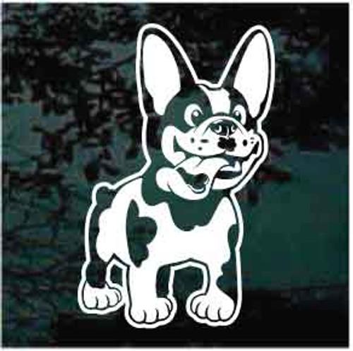 French Bulldog Cartoon Window Decals