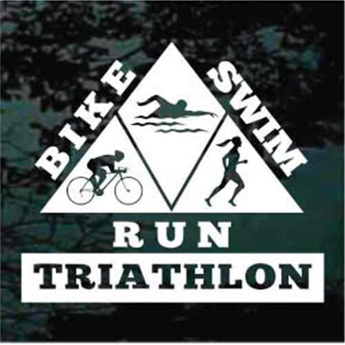 Bike Swim Run Triathlon Decals