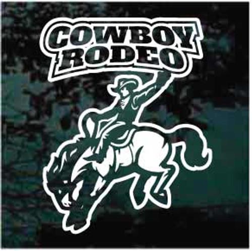 Cowboy Rodeo Bucking Bronco Window Decals