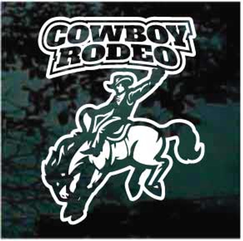 Cowboy Rodeo Bucking Bronco Window Decals