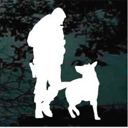 Policeman With Service Dog Window Decal