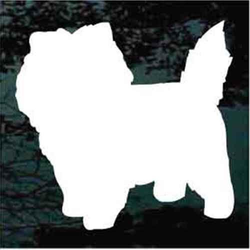 Cairn Terrier Silhouette Window Decals