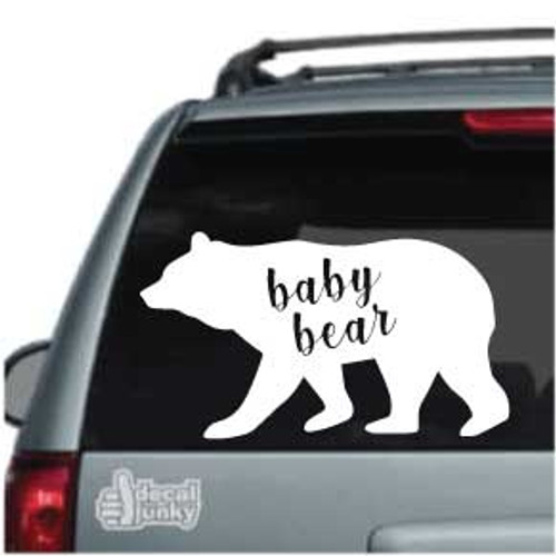 Baby Bear Car Decal
