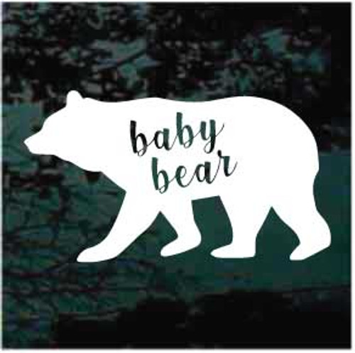 Baby Bear Window Decals