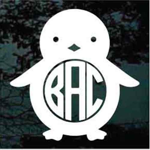 Baby Penguin Monogram Decals