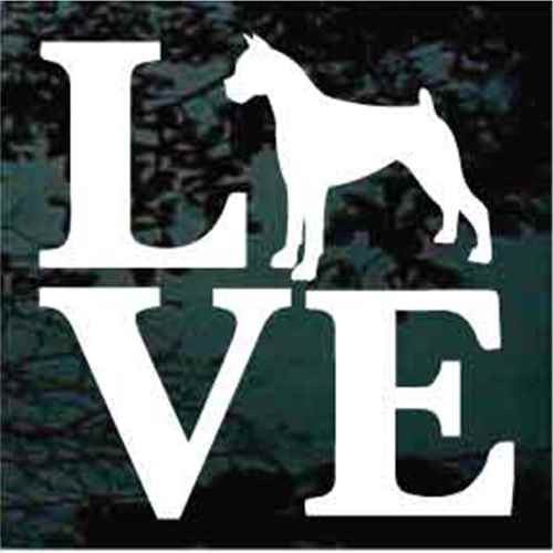 Boxer Love Window Decal