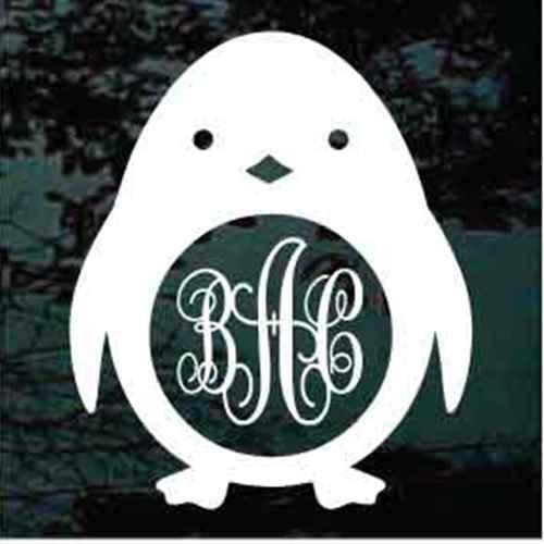 Penguin Monogram Decals