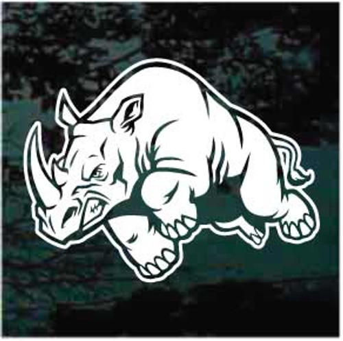 Mean Rhinoceros Window Decal