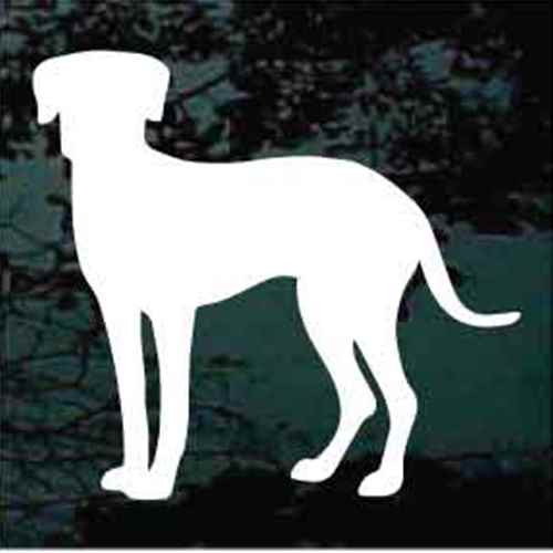 Catahoula Cur Silhouette Window Decal