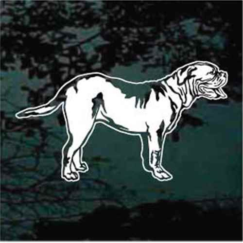 Dogue de Bordeaux Standing Window Decal