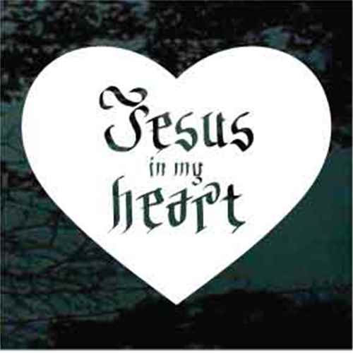 Jesus In My Heart Christian Decals