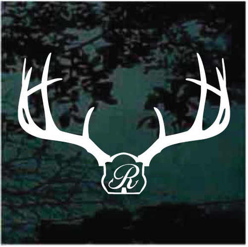 Deer Mount Fish Hook Monogram Window Decals