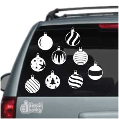 Christmas Ornaments Vinyl Decals