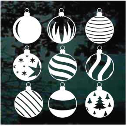 Christmas Ornaments Window Decals