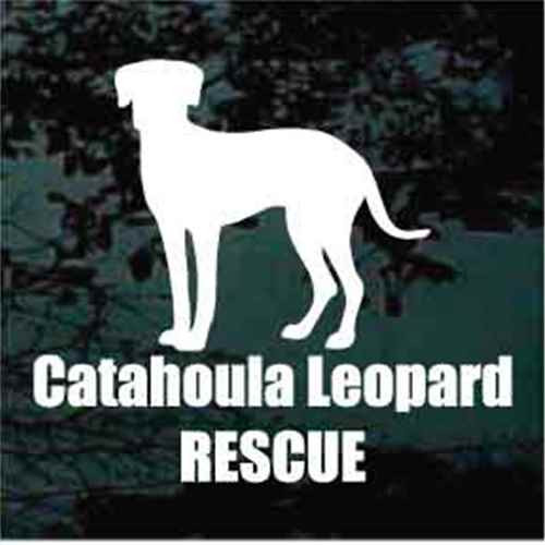 Catahoula Leopard Rescue Window Decal