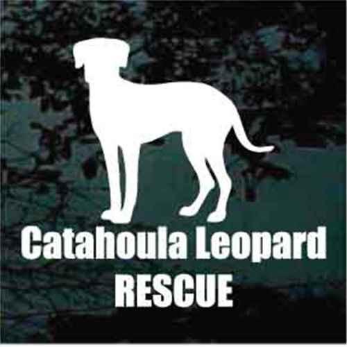 Catahoula Leopard Rescue Window Decals