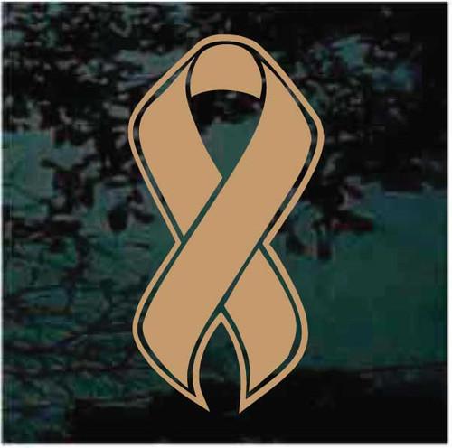 Childhood Cancer Awareness Ribbon Window Decals