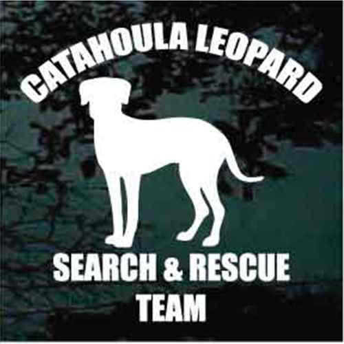 Catahoula Cur Search & Rescue Team Window Decal