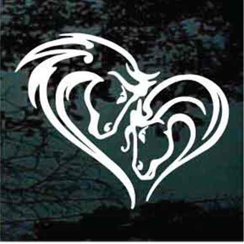 Horse Heads Horse Heart Decals