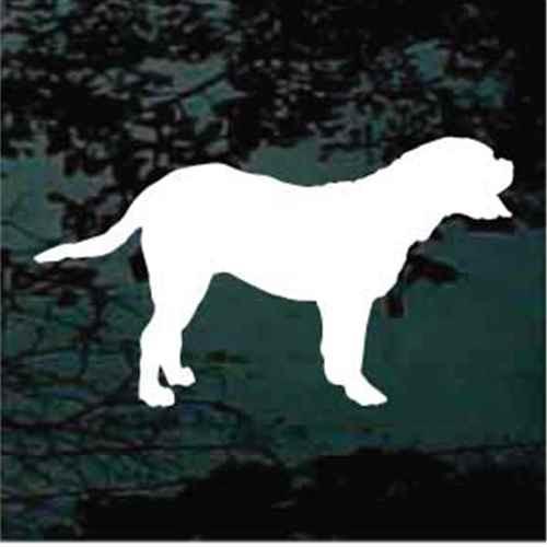 Dogue de Bordeaux Silhouette Window Decal