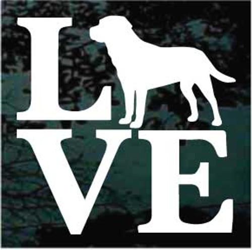 Labrador Retriever Love Decals